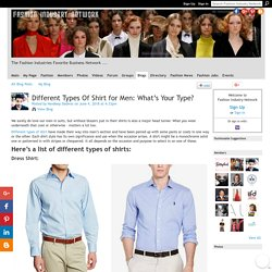 Different Types Of Shirt for Men: What's Your Type?