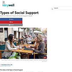 How Do Different Types of Social Support Work?