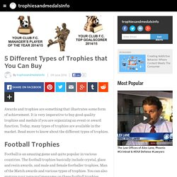 trophiesandmedalsInfo - 5 Different Types of Trophies that You Can Buy