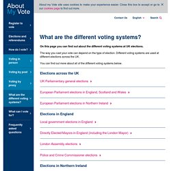 What are the different voting systems? - About my vote