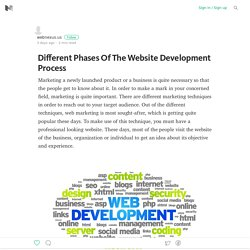 Different Phases Of The Website Development Process
