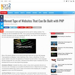 Different Type of Websites That Can Be Built with PHP