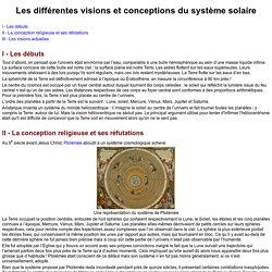 Les différentes visions et conceptions du système solaire