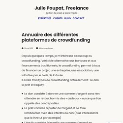 Annuaire des différentes plateformes de crowdfunding