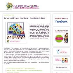 Le spectre de l'autisme - TSA et les différentes différences: Le baromètre des émotions - Émotions de base