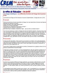 CREM - Les différentes fonctions de l'image...