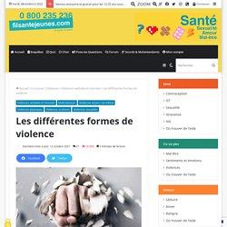 Les différentes formes de violence / Fil santé jeunes, sept 2018