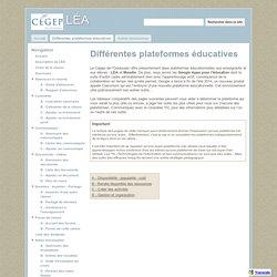 Différentes plateformes éducatives - LÉA