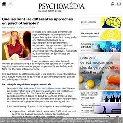 Quels sont les différentes approches en psychothérapie