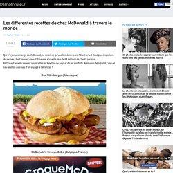 Les différentes recettes de chez McDonald à travers le monde