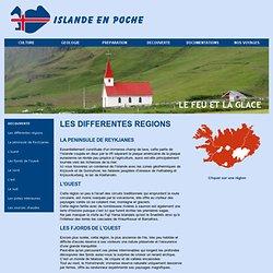 Les différentes régions de l'Islande