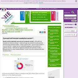 Quelles sont les différentes ressources de la protection sociale ? - Comment est financée la protection sociale