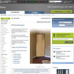 Porte technique : tout savoir sur les différentes portes techniques