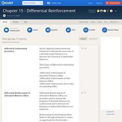 Chapter 15 - Differential Reinforcement flashcards