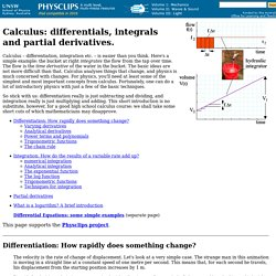 Calculus: Differentials and integrals