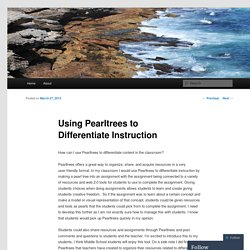 Using Pearltrees to Differentiate Instruction
