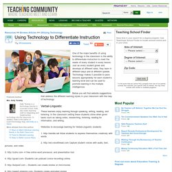 Using Technology to Differentiate Instruction - TheApple.com