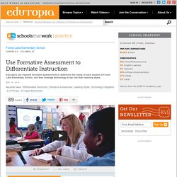 Use Formative Assessment to Differentiate Instruction