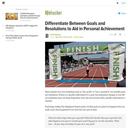 Differentiate Between Goals and Resolutions to Aid in Personal Achievement