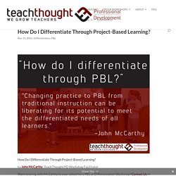 How Do I Differentiate Through Project-Based Learning? -