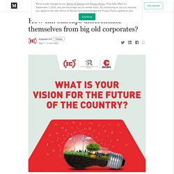 How can startups differentiate themselves from big old corporates?