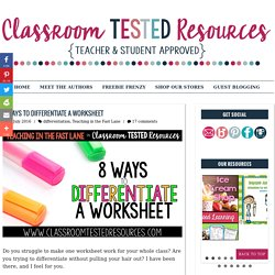 8 Ways to Differentiate a Worksheet