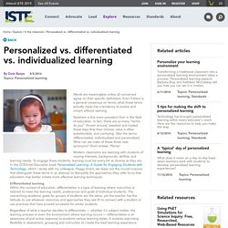Personalized vs. differentiated vs. individualized learning