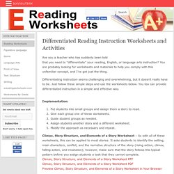 Differentiated Reading Instruction Worksheets and Activities