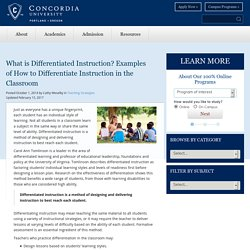 What Is Differentiated Instruction? Examples Of Strategies