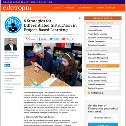 6 Strategies for Differentiated Instruction in Project-Based Learning