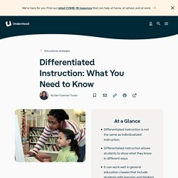 What Is Differentiated Instruction? Teaching Techniques, LD, ADHD