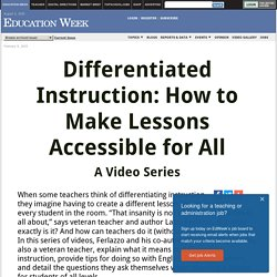 Differentiated Instruction: How to Make Lessons Accessible for All