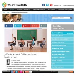 7 Facts About Differentiated Instruction