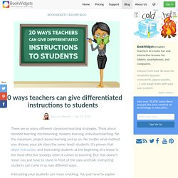 20 ways teachers can give differentiated instructions to students