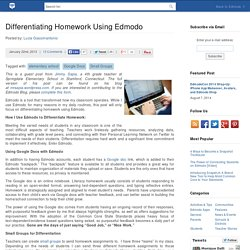 Differentiating Homework Using Edmodo | Edmodo – Where learning happens.
