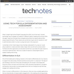 Using Tech for ELA Differentiation and Assessment