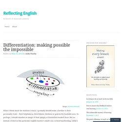 Differentiation: making possible the impossible