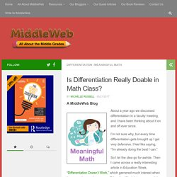 Is Differentiation Really Doable in Math Class?