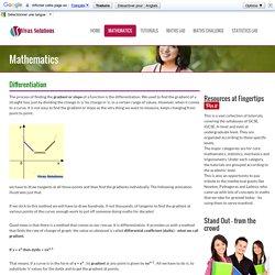 Basic Differentiation Tutorial
