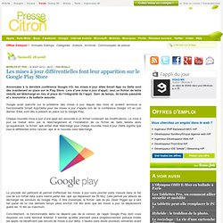 Les mises à jour différentielles font leur apparition sur le Google Play Store