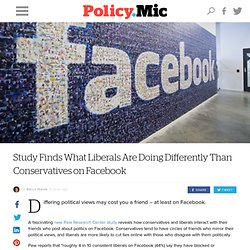 Study Finds What Liberals Are Doing Differently Than Conservatives on Facebook