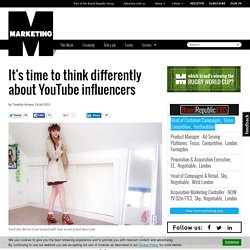 It's time to think differently about YouTube influencers