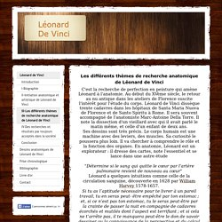 III-Les différents thèmes de recherche anatomique de Léonard de Vinci - Léonard de Vinci TPE.
