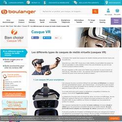 Les différents types de casques de réalité virtuelle (casques VR)
