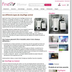 Diff rents types de chauffage pearltrees - Les differents types de chauffage ...