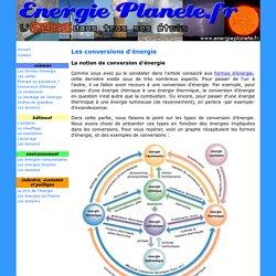 Les différents types de conversion d'énergie
