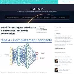Les différents types de réseaux de neurones : réseau de convolution
