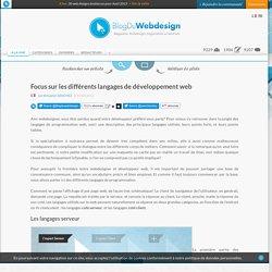 Focus sur les différents langages de développement web