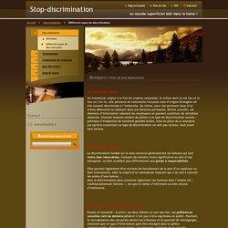 Différents types de discrimination