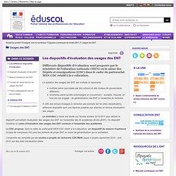 Usages des ENT - Les différents dispositifs d'évaluation